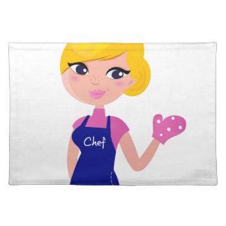 Amazing Chef Girl art illustration : TSHIRTS Placemat