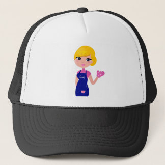 Amazing Chef Girl art illustration : TSHIRTS Trucker Hat