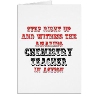 Amazing Chemistry Teacher In Action Cards