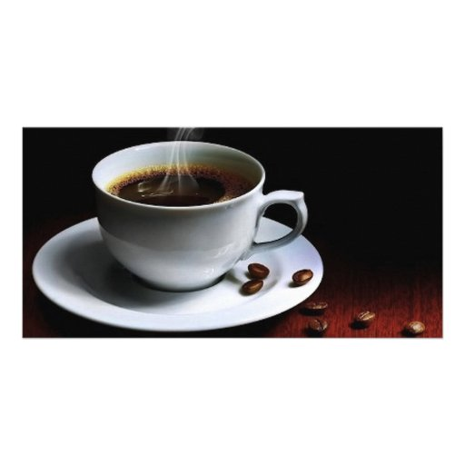 Amazing coffee photo-1 custom photo card