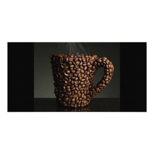 Amazing coffee photo-3 picture card
