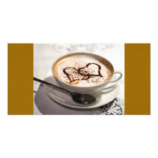 Amazing coffee photo photo card template
