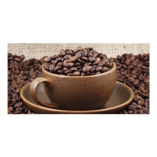 Amazing coffee photo greeting card