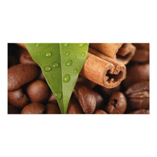 Amazing coffee still life customized photo card