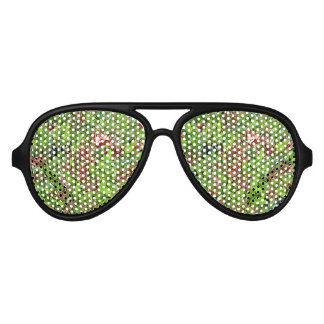 Amazing Colourful Blossom Design Aviator Sunglasses