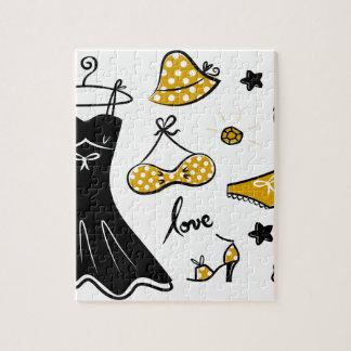 Amazing creative love Icons : black, gold Puzzles