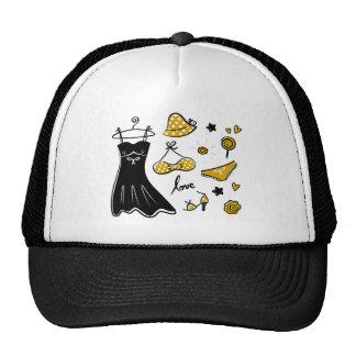 Amazing creative love Icons : black, gold Trucker Hat