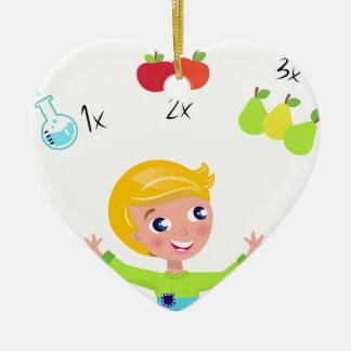 Amazing cute School boy : Tshirts Ceramic Ornament