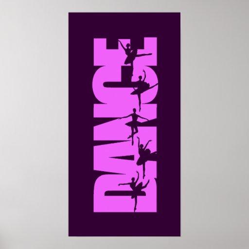 Amazing Dance Graphic Pink Print