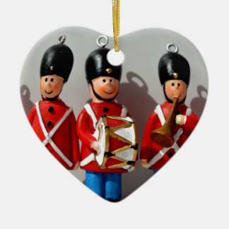 AMAZING DANISH SOLDIERS ARMY RED CERAMIC HEART ORNAMENT