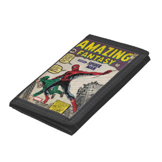 Amazing Fantasy Spider-Man Comic #15 Trifold Wallets