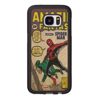 Amazing Fantasy Spider-Man Comic #15 Wood Samsung Galaxy S7 Case