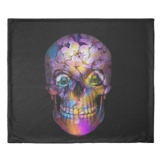 Amazing Floral Skull A Duvet Cover