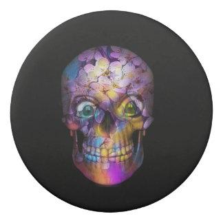 Amazing Floral Skull A Eraser