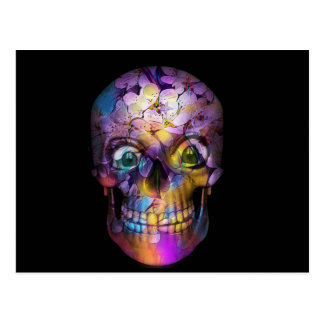 Amazing Floral Skull A Postcard