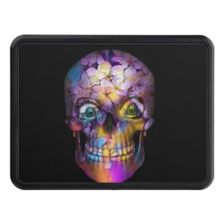 Amazing Floral Skull A Trailer Hitch Cover