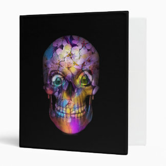 Amazing Floral Skull A Vinyl Binder