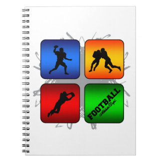 Amazing Football Urban Style Spiral Notebook