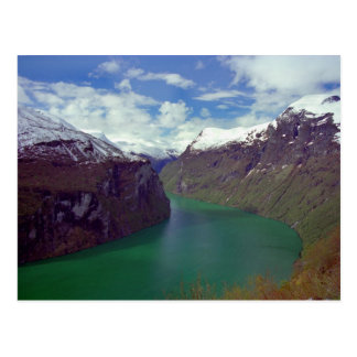 Amazing Geiranger Fjord Postcard