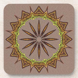 Amazing Golden Radiating Star Drink Coaster
