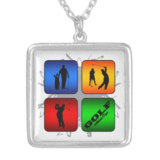 Amazing Golf Urban Style Silver Plated Necklace