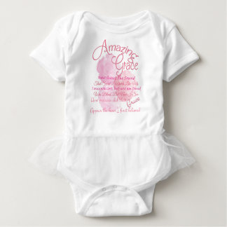 Amazing Grace Beautiful Pink Rose Typography Baby Bodysuit