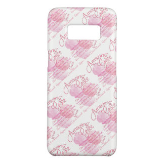 Amazing Grace Beautiful Pink Rose Typography Case-Mate Samsung Galaxy S8 Case