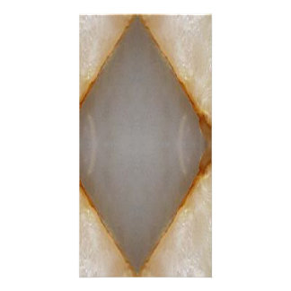 Amazing Grace: BORDER FRAME GEM PEARL crystals Personalized Photo Card