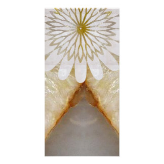 Amazing Grace: BORDER FRAME GEM PEARL crystals Photo Greeting Card
