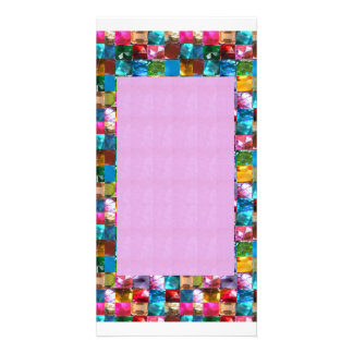 Amazing Grace: BORDER FRAME GEM PEARL JEWELS Picture Card