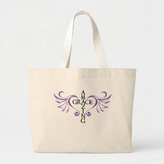 Amazing grace cross love wings heart Bag 