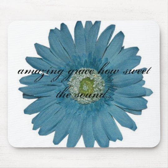 amazing grace flower mouse pad