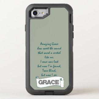 Amazing Grace Hymn Lyrics OtterBox Defender iPhone 8/7 Case