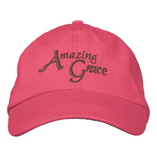 Amazing Grace Inspirational Hymn Embroidered Hats