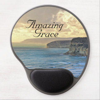 Amazing Grace Ocean Sunset Gel Mousepad
