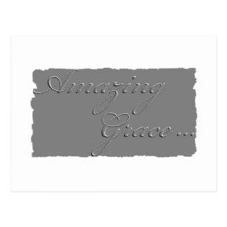 Amazing Grace postcard plaque