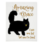 Amazing Grace Rescued Cat Poster