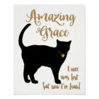 Amazing Grace Rescued Cat Shorthair Poster