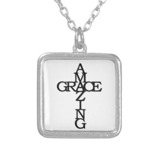 Amazing Grace Silver Plated Necklace