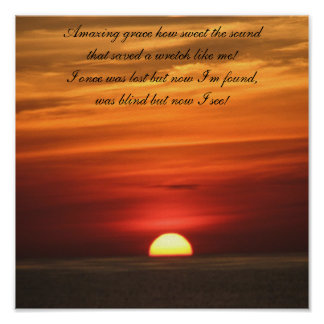 Amazing Grace Sunrise Poster