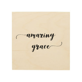 'Amazing Grace' Wood Wall Art