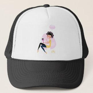 Amazing hand-drawn Beauty girl illustration Trucker Hat