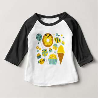 Amazing hand-drawn Donuts Illustrated Baby T-Shirt