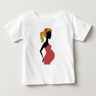 Amazing hand painted girl Red Baby T-Shirt