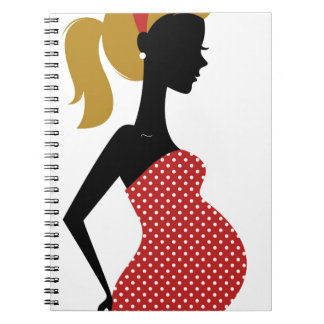 Amazing hand painted girl Red Notebooks
