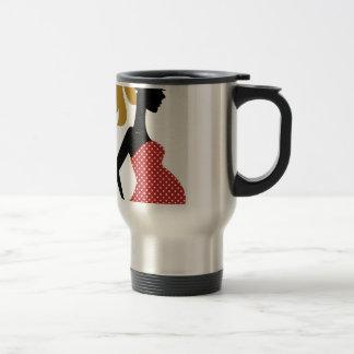Amazing hand painted girl Red Travel Mug