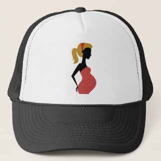 Amazing hand painted girl Red Trucker Hat