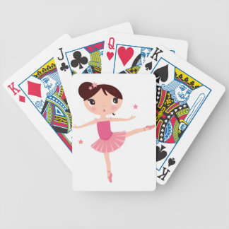 Amazing hand painted Pink balerina Bicycle Playing Cards
