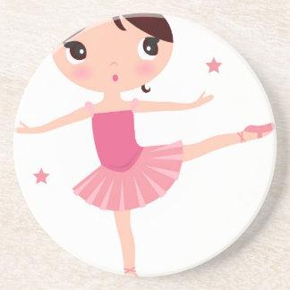 Amazing hand painted Pink balerina Coaster