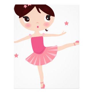 Amazing hand painted Pink balerina Letterhead